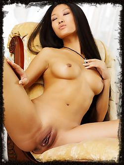 Asian princess, rules the set and the house and any man that messes with her, see her nude and beautiful.